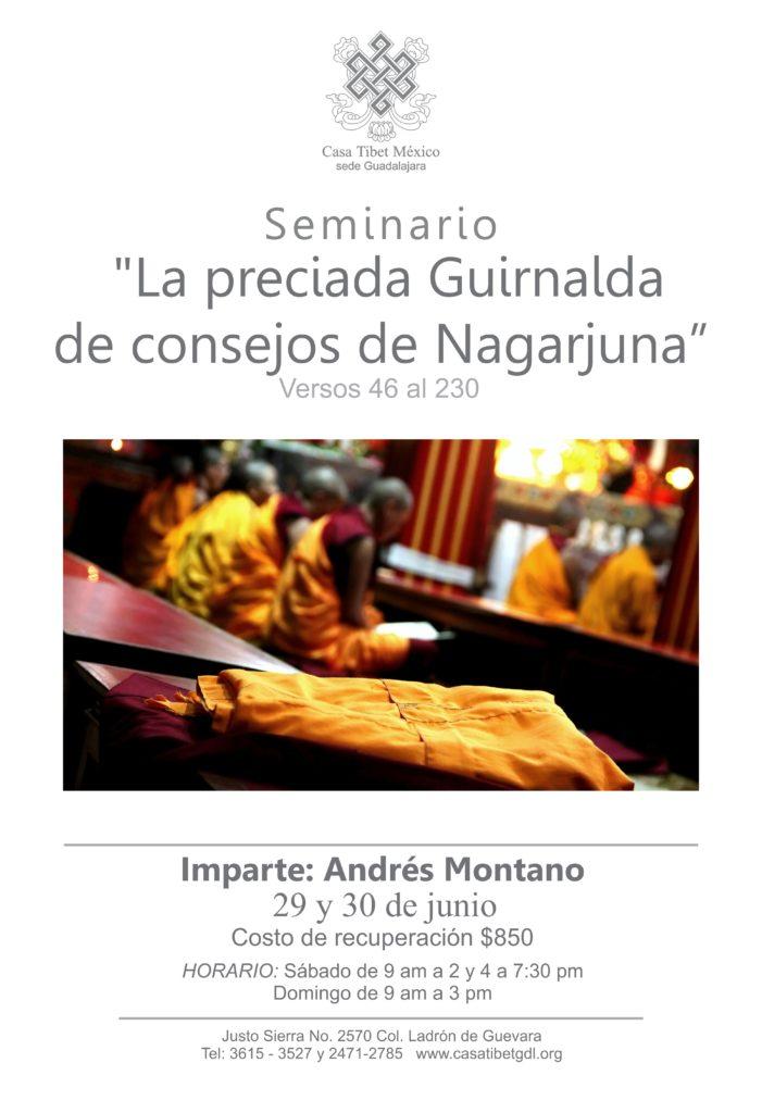 """Seminario: """"La preciada Guirnalda de consejos de Nagarjuna."""" Andrés Montano en Casa Tibet Guadalajara."""